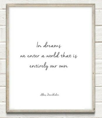 Harry Potter Dreams Typography Print Poster Unframed Home Quote Gift
