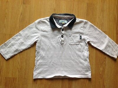 027881697fbd62 TED BAKER - Boys  white geometric print tipped polo shirt Size Age 7 ...