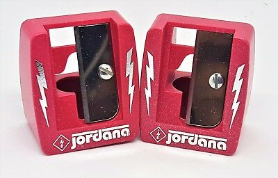 Lot of 2 New Large Cosmetic Sharpeners w/Cleaning Stick Jordana 16mm #716