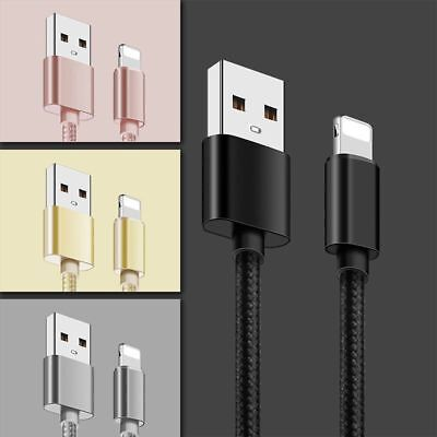 For Apple iPhone 7 Plus 6 5s 8 X Max USB Charging Cable Lightning Cord 10/6/3FT
