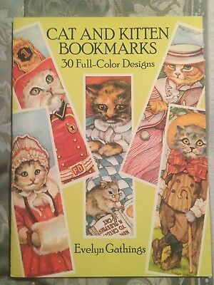 Cat And Kitten Bookmarks By Evelyn Gathings 1988 Dover Pub 30 Color Bookmarks