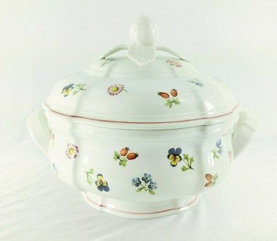 Villeroy & Boch Petite Fleur Round Covered Vegetable Bowl Luxembourg MINT (B)