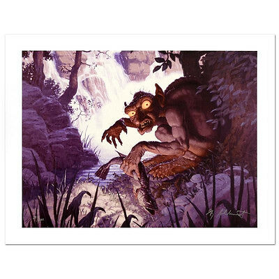 "GREG HILDEBRANDT Lord Of The Rings ""GOLLUM"" SIGNED GICLEE CANVAS LOTR HOBBIT COA"