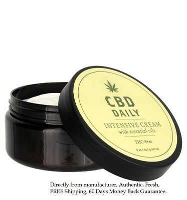 CBD Daily Intensive Cream, 8 Oz, THC Free Essential Muscle Joint Pain Relief NEW