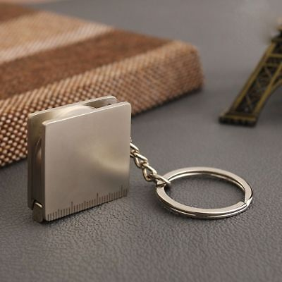 Portable Keyring Tape Measure Pocket Chain Key Fob Holder Keychain Key Ring