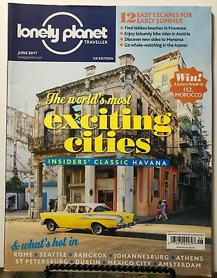 Lonely Planet Traveller Most Exciting Cities Havana June 2017 FREE SHIPPING JB