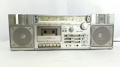 Vintage Lenox Sound Stereo Cassette Player Boombox CT-772 Retro 1980's