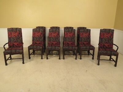 LF38516C: Set Of 10 JOHN WIDDICOMB Mid Century Modern Dining Room Chairs