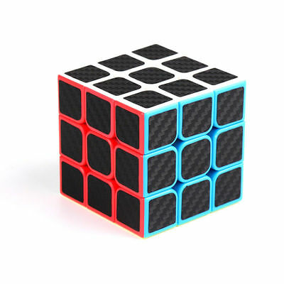 3x3x3 Magic Cube Carbon Fibre Smooth Speed Professional Twist Puzzle Toys Gift
