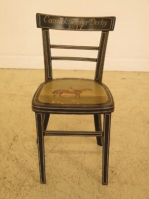 F45444EC: Cossack Derby Paint Decorated Horse Racing Chair
