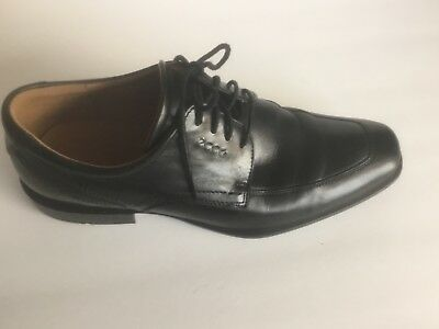 aeaf6ac04ae ECCO Mens Black Dress Shoes Leather Comfort Lace Up Oxford SZ 10 10.5 US 41