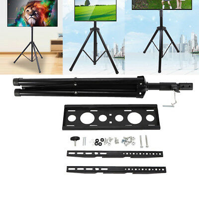 """Adjustable Tripod TV Stand Television LCD Flat Panel Monitor Mount 34"""" to 50"""" TV"""