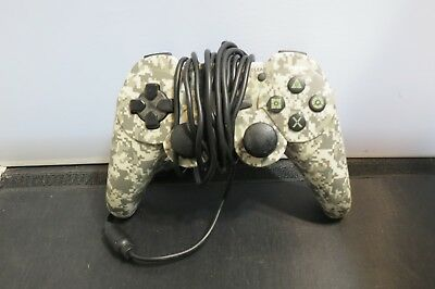 Snakebyte Sony Playstation PS3 Wired Video Game Controller White Camo Snake