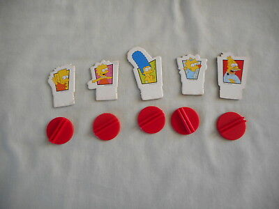 The Simpsons Board Game - player tokens - 5 tokens with stand