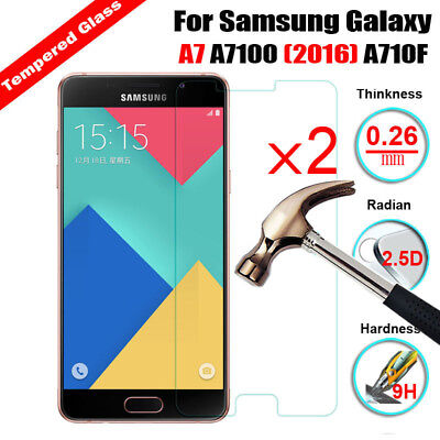 2X 9H Tempered Glass Screen Protector Film For Samsung Galaxy A8 A7 A5 A3 Note 5