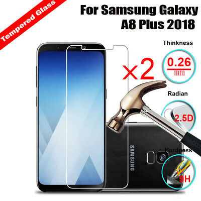 2X Tempered Glass Screen Protector For Samsung Galaxy A50 / A30 / A10 / A8 Plus