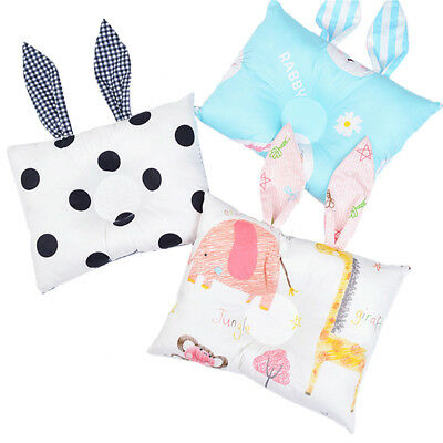 Baby Cot Pillow Preventing Flat Head Neck Syndrome for Newborn Girl Boy Safe NEW