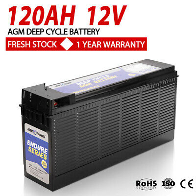 AGM Deep Cycle Battery 135AH Deep Cycle Batteries Camping Marine 4WD Solar