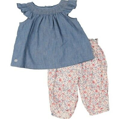 Ralph Lauren: Blue & White Blouse & Trousers Outfit{Size 9Months}{RRP£85}
