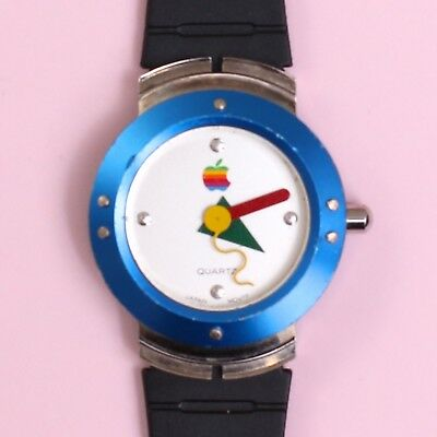 Original Retro Apple Analogue Wrist Watch from MacOS System 7.5 Promotion [1995]