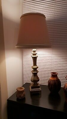 Brass table lamp vintage 60's