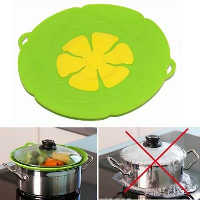 Silicone Liquid Lid Anti Spill Lids Handy-Lid Spill Stopper Pot Cover Cooking