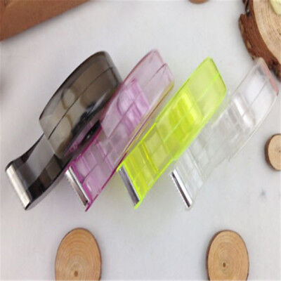 Transparent 1 pc Tape Dispenser Cutter Roll Holder Storage Random Color Useful