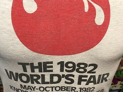 Vtg The 1982 World's Fair Knoxville Tennessee M Shirt Tshirt Worn  Distressed