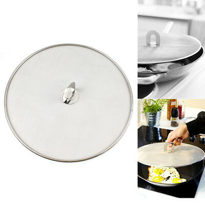 Pan Lid Oil Resist For Frying Pan Pot Cover Splatter Screen Stainless Steel