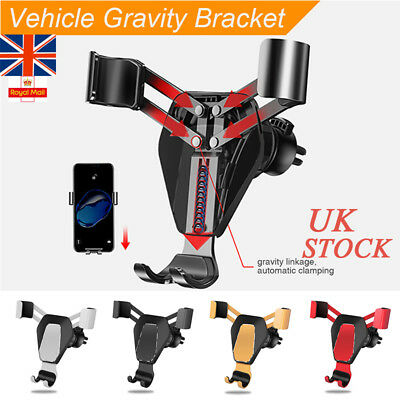 Universal Gravity Car Phone Holder Air Vent Mount Metal Stand for Samsung iPhone