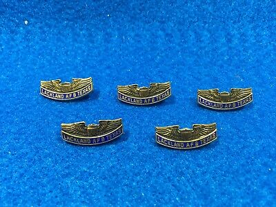 Lot of 5 1970's Vintage USAF Lackland Air Force Base Pins