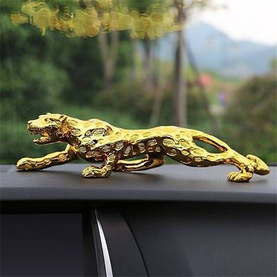 Leopard Jaguar Car Decor interior Cat Home Office Decoration Metal Statue