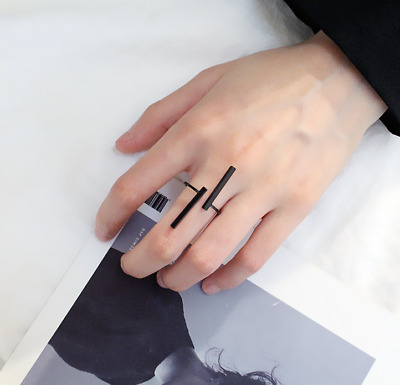 New  Ideas Simplified Geometric  Ring Open Adjustable Ring  Cocktail Party