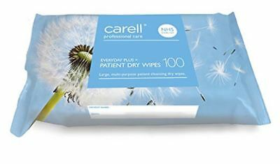 Carell Patient Dry Wipes Everyday Plus, Pack of 100 x 2