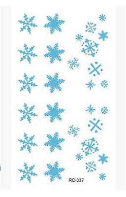 96232fb95 Creative Christmas Snowflakes Mini Temporary Tattoos Body Art Stickers 105* 60mm