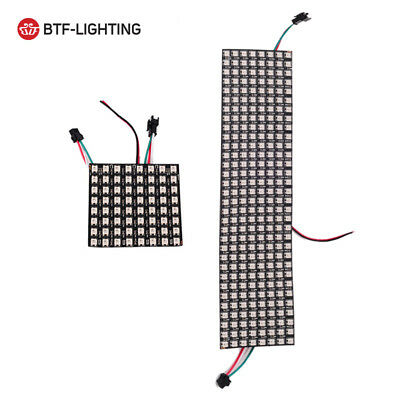 WS2812B 5050 8x32 RGB Flexible LED Panel Matrix Programmable Display Screen DE