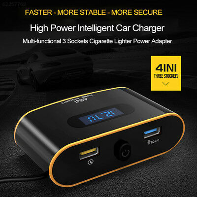 44D9 Smart USB Charger 120W Charging Adapter Automobile 3 Cigarette Hole