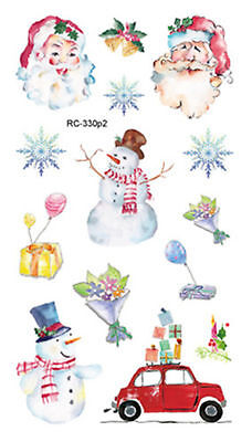 34f4db2dd Cute Santa Snowman and Car Mini Temporary Tattoos Body Art Stickers 105*60mm  New