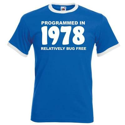 Personalised Mens Funny Ringer Birthday TShirt Programmed In Gifts Presents