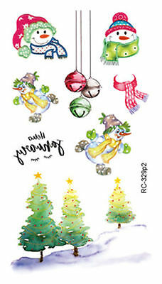 e48a39fee Happy Christmas Snowman Mini Temporary Tattoos Body Art Stickers 105*60 mm  New
