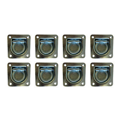 8 x Recessed/Flush Fit Lashing Ring Cargo Tie Down Anchor Truck Trailer Bed
