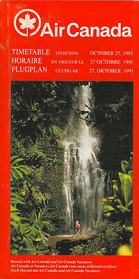 Air Canada system timetable 10/27/91 [3081] Buy 2 Get 1 Free