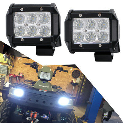2pcs 4 in 18W Flood Pods Cube LED Reverse Lights for Tundra Polaris Ranger Truck