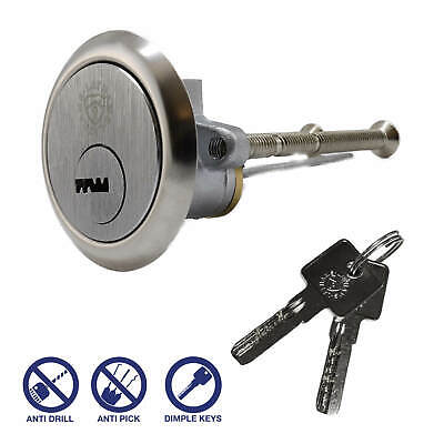 Security Rim Cylinder Door Lock Satin/Brushed ChromeFinish, Yale ERA fitment