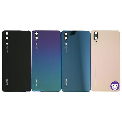 Genuine Huawei P20 Battery Back Cover rear glass panel Case Camera Lens