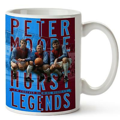 PETERS HURST MOORE Mug WEST HAM Football Legend Cup Christmas Dad Xmas Gift LG64