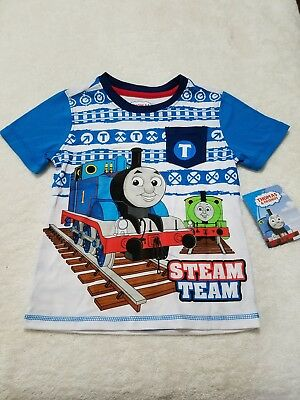 Thomas The Train & Friends Toddler Boys Short Sleeve T Shirt Tee Size 4T New