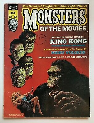 Vintage MONSTERS OF THE MOVIES Magazine Back Issue #1 6/74 Stan Lee Curtis