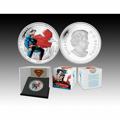 2013 Canada $20 Man of Steel  – 75th Anniversary of Superman – Fine Silver Coin