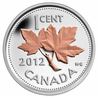 2012 Canada 1 cent Farewell to the Penny – Fine Silver Coin (1/2 oz)